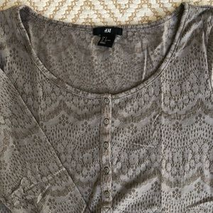 H&M lace effect long sleeve tee